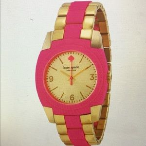 BRAND NEW PINK SKYLINR GOLD PLATED WATCH